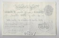 B215 Mahon 1926 White £5 Banknote 244e In Extremely Fine Condition