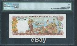 BAHAMAS $50 P40b ALLEN signature 1974 PMG 40 Extremely Fine and Rare