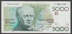 Belgium P. 145-1633 5,000 5000 5.000 Francs Gezelle Very Fine-extremely Fine