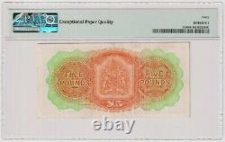 Bermuda 5 Pounds dated 1966 Pick21d PMG 40 EPQ EF Extremely Fine