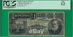 Brazil mil reis Estampa 7A, A255 PCGS12 Fine! Extremely rare in any condition