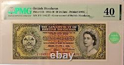 British Honduras 10 Dollars 1964, Belize, PMG 40 Extremely Fine