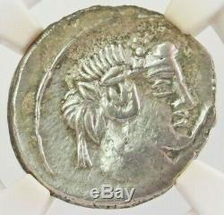 C. 90 Bc Silver Roman Republic Denarius Q. Titius Pegasus Ngc Extremely Fine 4/2