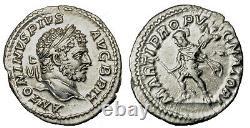 CARACALLA. AR denarius. 198 217 A. D. Extremely Fine. 9913