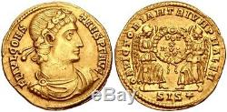 CONSTANS, 337-350 AD. (AV Solidus 20.2mm 4.34g 6h) CHOICE EXTREMELY FINE