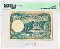 Ceylon Government of ceylon 10 Rupees 24.6.1945 Pick 36A PMG Extremely Fine 40