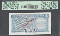 Ceylon Sri lanka 50 Rupees 20-10-1969 P75as Specimen Extremely Fine