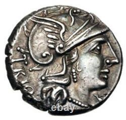 Cn. Lucretius Trio, 136 BC, Rome, AR Denarius, Extremely FIne (Ancient Coin)
