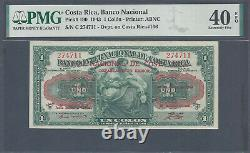 Costa Rica, 1943, 1 Colon, P190 Ovpt on P166, PMG 40 EPQ Extremely Fine