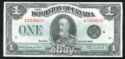DC-25o 1923 $1 ONE DOLLAR DOMINION OF CANADA BLACK SEAL EXTREMELY FINE