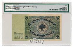 DEUTSCHLAND Banknote 10 RENTENMARK 1925 PMG graded XF 40 EPQ Extremely Fine