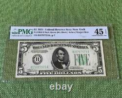 DGS NON-MULE 1934 $5 New York FRN PMG Choice Extremely Fine XF 45EPQ C2C