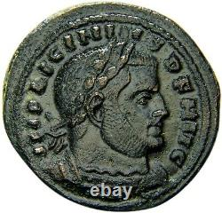 Extremely Fine Licinius (I) Rome Mint First Officina Roman Coin withCOA