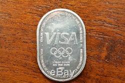 Extremely Rare Johnson Matthey Victory 1988 Olympics1oz VISA Fine Silver Round