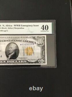 FR#2309$10 North Africa Star Note. PMG Extremely Fine 40. Very Nice Mid Grade