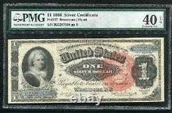 Fr. 217 1886 $1 One Dollar Martha Silver Certificate Pmg Extremely Fine-40epq