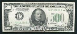 Fr. 2202-f 1934-a $500 Frn Federal Reserve Note Atlanta, Ga Extremely Fine+