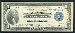 Fr. 720 1918 $1 Frbn Federal Reserve Bank Note Cleveland, Oh Extremely Fine