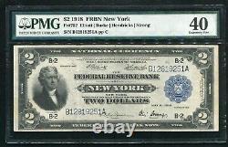 Fr 752 1918 $2 Battleship Frbn Federal Reserve Bank Note Pmg Extremely Fine-40