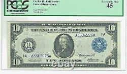 Fr. 904 1914 $10 Federal Reserve Note (boston). Pcgs Graded Extremely Fine 45