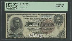 Fr244 $2 1886 Silver Certificate Pmg 40 Ppq Extremely Fine Wlm6547