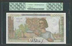 France 10000 Francs 1953, Pick-132d, PCGS 40 EXTREMELY FINE