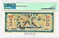 French Indochina 500 Piastres ND (1944-45) Pick 68 PMG Extremely Fine 40