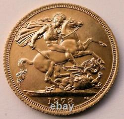 Full gold sovereign 1978 QEII EF+ (Extremely fine+) condition 7.98 g 22ct B