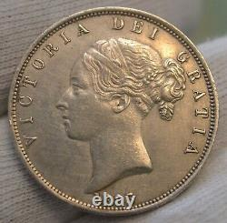 GB 1883 Queen Victoria Silver Half Crown Coin About Extremely Fine