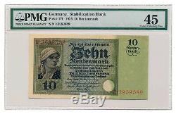 GERMANY banknote 10 Rentenmark 1925 PMG XF 40 EPQ Extremely Fine grade