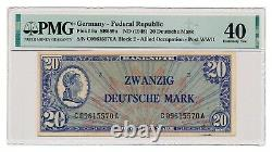 GERMANY banknote 20 Deutsche Mark 1948 PMG XF 40 Extremely Fine