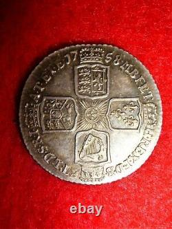 George II Shilling Coin 1758 Extremely Fine UK / GB