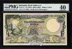 Indonesia 2500 2,500 Rupiah 1957 Pmg 40 Extremely Fine P. 54