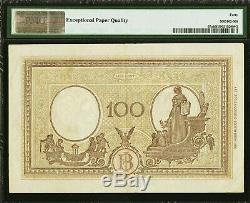 Italy 100 Lire 1943 Pick-67a Extremely Fine PMG 40 EPQ