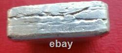 JADE ASSAY. 999 Fine SILVER BAR ART VINTAGE Extremely RARE 10.09 TROY OUNCES