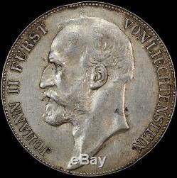 Liechtenstein 1904 Silver 5 Kroner Y# 4 Extremely Fine