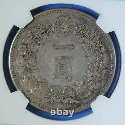 M19 1886 Japan Silver Yen Coin NGC Graded XF45 Extremely Fine