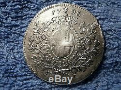 Malta Scarce Silver Scudo 1796 Extremely Fine! Emmanuel De Rohan