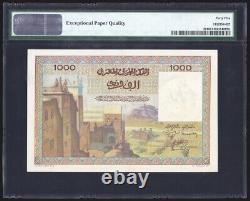 Morocco 1000 Francs 1956 P47 PMG Choice Extremely Fine 45 EPQ