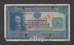 Mozambique 1000 Escudos 29-1-1945 P99as Specimen Extremely Fine