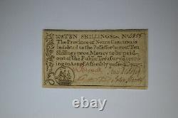 North Carolina December, 1771 10s. Extremely Fine
