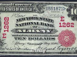 Ny 1902 $10 Red-seal Albany, New York Pcgs Extremely Fine 40
