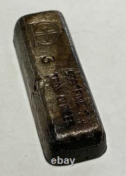 Omega M & B Mining 3 toz. 999+ Fine Silver Bar Extremely Rare