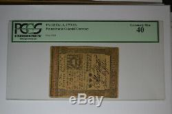 Pennsylvania October 1, 1773 15s PCGS Extremely Fine 40