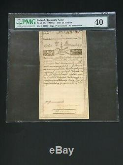 Poland 1794 25 Zlotych -treasury Note Pmg Extremely Fine 40 Rare Note