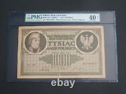 Poland 1919- 1000 Marek State Loan Bank -pmg Extremely Fine 40 Net-large Note