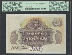 Portugal 20 Escudos 3-02-1927 P122s Specimen Extremely fine