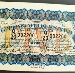 R42 Five Pound 1927 Riddle/Heathershaw about Extremely Fine