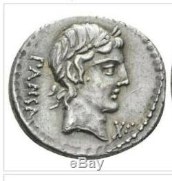 Roman Republic, C. Vibius C. F. Pansa, AR Denarius, circa 90 BCE, Extremely Fine