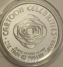SPIDER-MAN Cartoon Celebrities Series 1 oz 999 Fine Silver Coin Extremely Rare